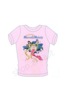 T-shirt Mermaid Melody cotone 100% mezza manica Bubble Mermaid Melody