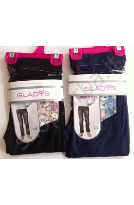 Leggings jeans per bimba leggeri primaverili elasticizzati 1630 NERO JEANS