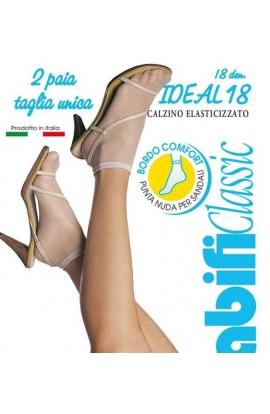 Calzino Ideal 18 den con bordo elastico extra-morbido 2 paia