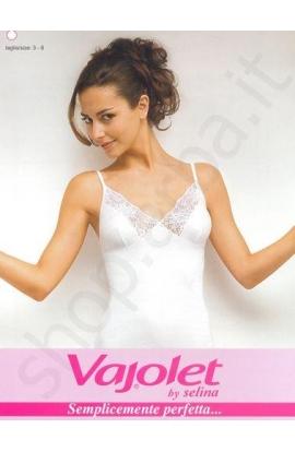Canottiera con reggiseno donna classica spalla stretta 100% cotone Selina 5373