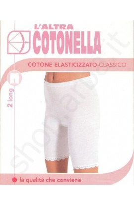 Mutanda a gambaletto protettiva con bordo in pizzo Cotonella 3163 2 pezzi
