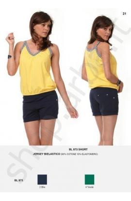 Pantaloncino short per donna o ragazza in cotone con tasche BL873