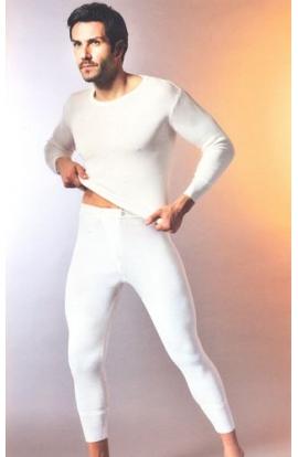 Maglia manica lunga uomo intima pura lana vergine irrestringibile Madiva Gubbio