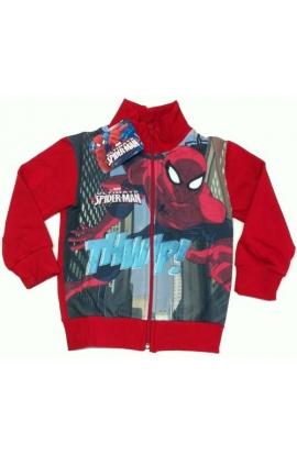 Giacca felpata Spiderman invernale per bimbi cotone felpato SPD016FZ
