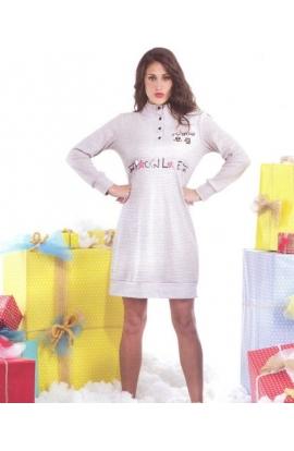Camicia da notte 100% cotone invernale Venere 6617