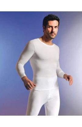 Maglia manica lunga intima uomo 85% lana vergine 15% seta irrestringibile Madiva Sassari