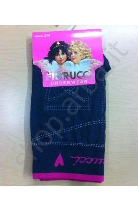 Leggings Fiorucci per bimba in cotone felpato tipo jeans FLB0399