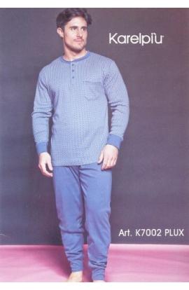 Pigiama per uomo conformato cotone invernale misure 58/60 art. 7002 PLUX BLU