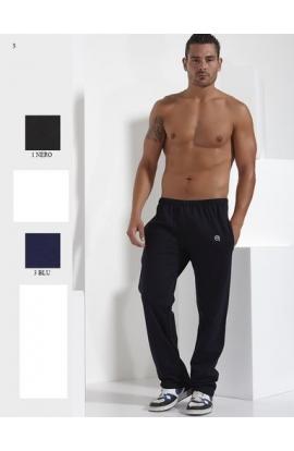 Pantalone calibrato tuta uomo misure XXXXL 100% cotone senza bordo in caviglia FC363