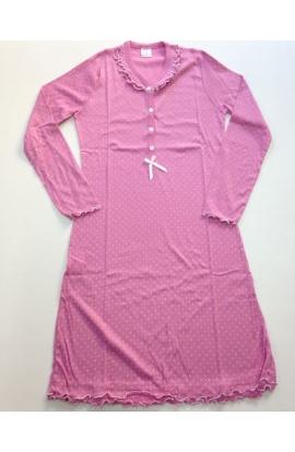 Camicia da notte 100% cotone manica lunga artigianato Fiorentino art. Giulia