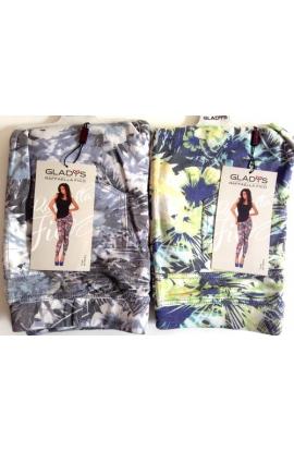 Leggings jeans stampati leggeri con fiori primavera estate Gladys 1028