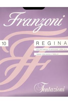 Collant 10 den Franzoni Regina ultravelato con guaina e tassello