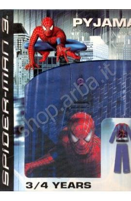 Pigiama Spiderman 3 bambino caldo cotone invernale