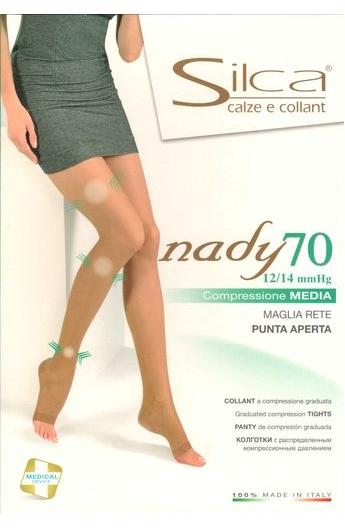 fce3fdab1b Collant riposante 70 den a compressione graduata punta aperta Nady 70 PA