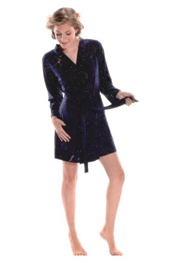 1006429852 Vestaglia corta estiva 100% cotone modello kimono NSN 14977