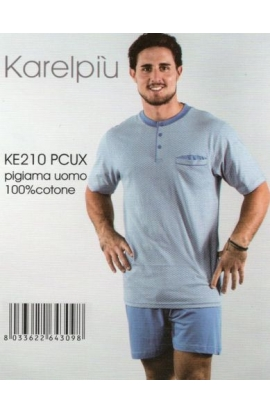 Pigiama corto calibrato XXXXL per uomo Karel KE210
