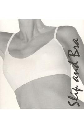 Brasierre donna con apertura dietro e spalline regolabili Slip & Bra 5202 morbidissima