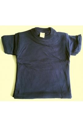 T-shirt bimbo/a 100% cotone colore BLU tinta unita