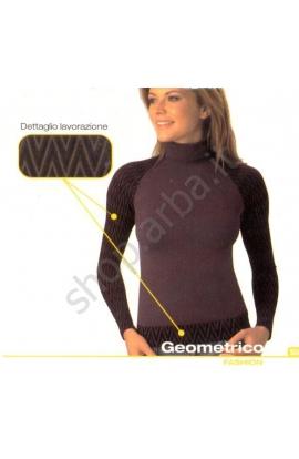 Dolcevita per donna Geometrico Intimidea in morbida microfibra