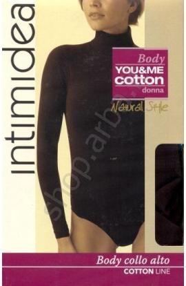 Body caldo cotone invernale manica lunga collo alto Intimidea 510047