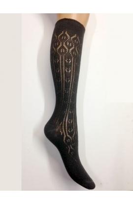 Calza per donna lunghezza a 3/4 traforata per francesine in caldo cotone 245