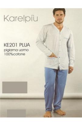 Pigiama per uomo cotone 100% con giacca aperta 201 misura 50
