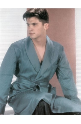 Coordinato pigiama + vestaglia in raso elegantissimo BLU misura 50