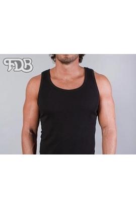 Canottiera spalla larga per uomo 100% cotone colore NERO FDB 38