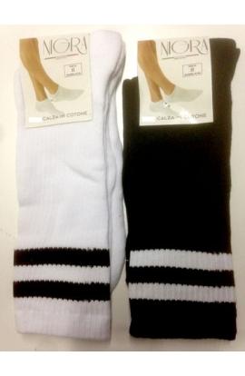 3 paia di calze da tennis leggero estivo gamba corta 90% cotone 130