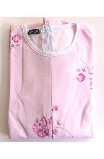1002 Pigiamone Tutone femminile autunno inverno per anziani cotone 100% peso medio con cerniera posteriore art. 1002