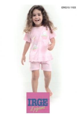 Pigiamino baby cotone leggero corto per bimba dai 12 ai 30 mesi Irge 151103