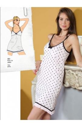 Camicia da notte per donna spallina Nazareno Gabrielli D03
