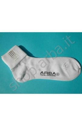 Calza sanitaria donna con risvolto morbido senza elastico senza segni 100% cotone Arba Sopracalza