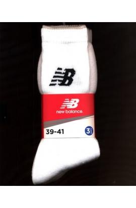 3 Calze tecniche per tennis uomo cotone New Balance NBU01 3 paia