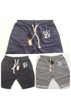 Pantaloncino corto bermuda uomo cotone garzato con tasche 550