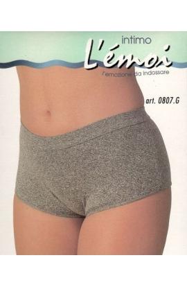 Boxerino ragazza culotte colori melange 100% cotone Lucas 807