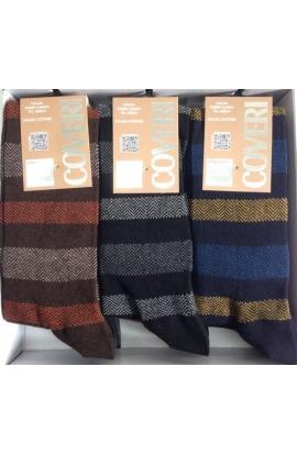 Calza lunga Enrico Coveri caldo cotone riga spigata fashion 195