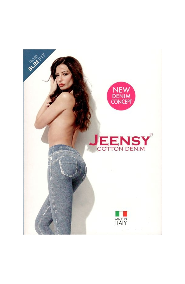 Jeensy slim Fit Rory leggings modellante effetto jeans delave'