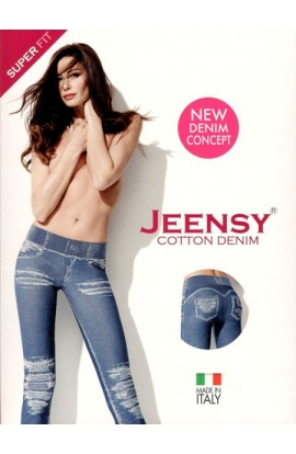 Jeensy super Fit Strappi leggings modellante effetto jeans con strappi