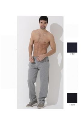 Pantalone tuta calibrato per uomo invernale felpato misure calibrate XXXXL Oxigym F500