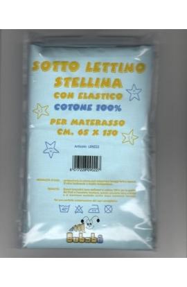 Lenzuolo per lettino solo sotto con elastici 65X130 cotone 100% STELLINA