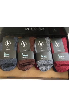Calza corta per donna in cotone lurex colori assortiti 1300
