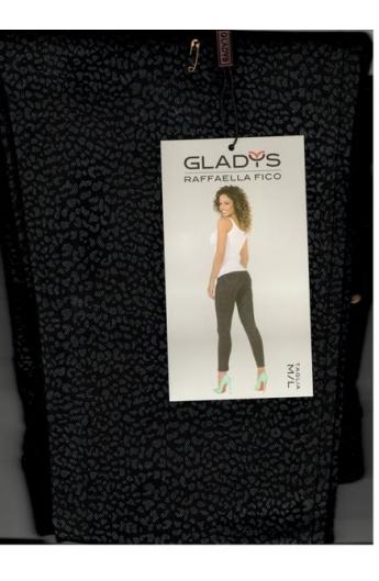 Leggings con piccola fantasia elasticizzati con tasca Gladys 1069