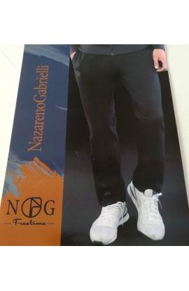 Pantalone felpato senza bordo invernale da tuta per uomo senza bordo Nazareno Gabrielli SU336
