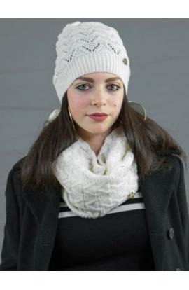 Cappello per donna traforato finissaggio mohair C554