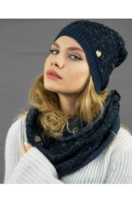 Cappello per donna lavorato a rete morbida con lurex C560