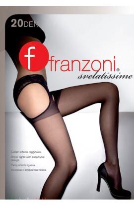 Sexi collant con reggicalze incorporato Svelatissime Franzoni 20 den