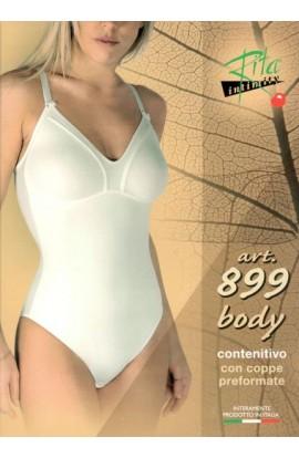 Body contenitivo con coppe preformate senza cuciture Rita 899
