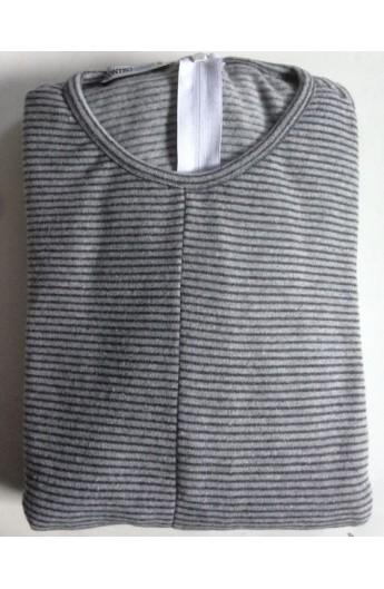 adb2beb32a5d15 1009/18 Pigiamone Tutone per anziani invernale maschile punto Milano in  micro pile e cotone pigiama antimanipolazione