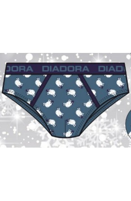 Slip Natale Diadora per uomo in cotone elasticizzati 5902